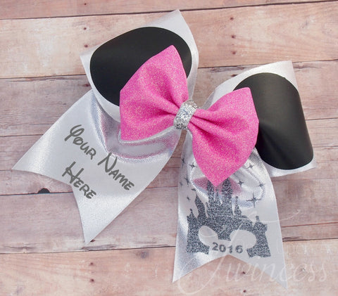 Disney Minnie Mouse ears cheer bow