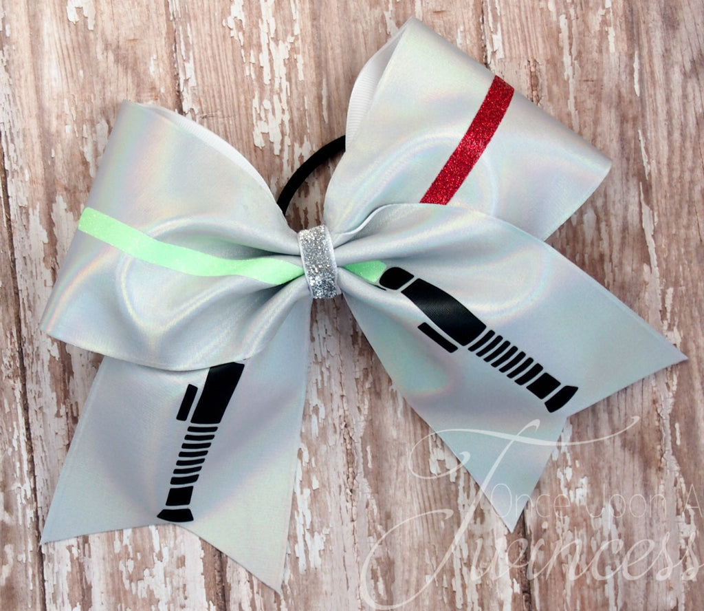 Star Wars Cheer Bow, Light saber, gifts for cheerleaders, gifts for girls, star wars premier, Star Wars costume