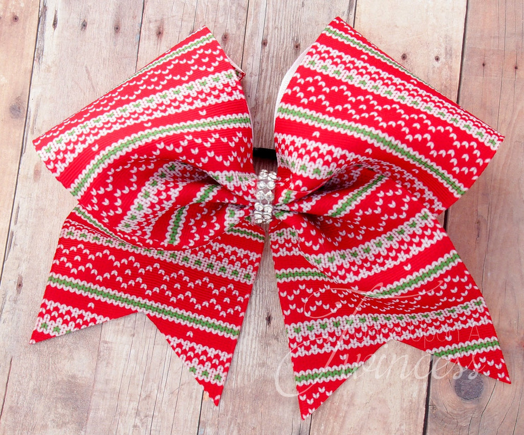 christmas cheer bow christmas sweater print