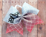 ibase cheer bow, cheer bows, bows for bases, cheer team bows, competition bows, bows for nationals, gifts for cheerleaders, sublimation bows