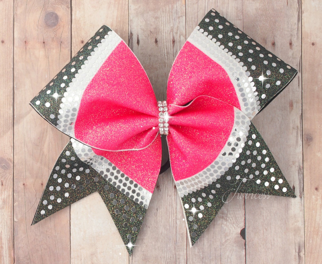 Rhinestone cheer bow - pink cheer bow - cheer bow cheap - gifts for cheerleaders - competition cheer bow
