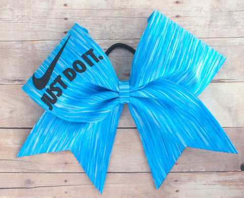 Blue sky cheer bow