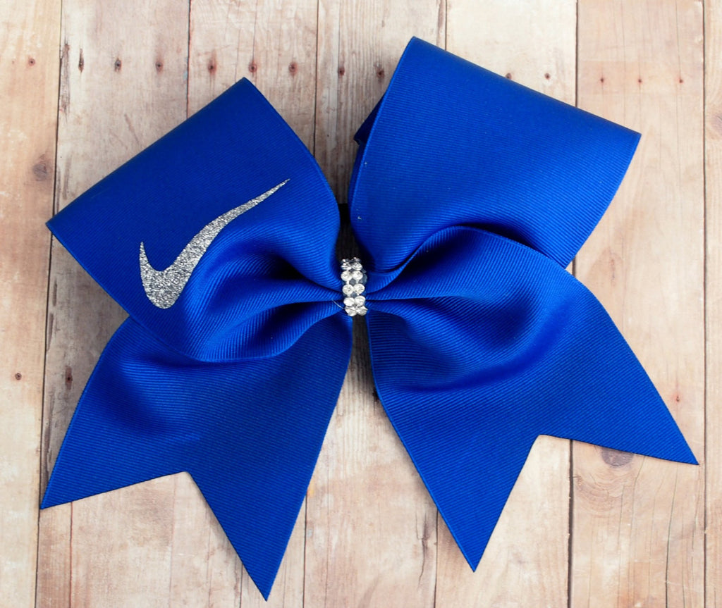 Royal Blue Cheer Bow