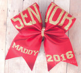 Senior Cheer Bow - Gold and red cheer bow - For cheer teams - Senior night - graduation 2017 - big cheer bows