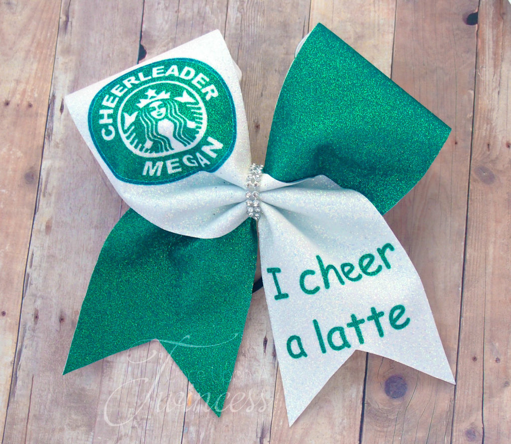 Starbucks I Cheer a Latte Custom Cheer Bow