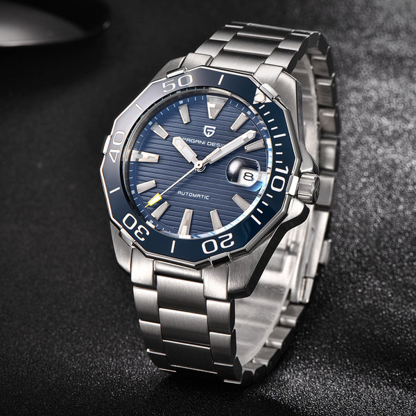 Blue Automatic Masculine Watch