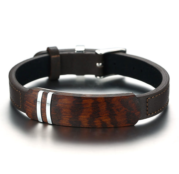 Rosewood + Genuine Leather + Stainless Steel Jewellery