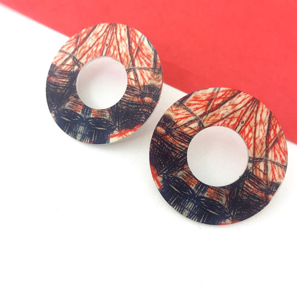 Aluminium Printed Earrings