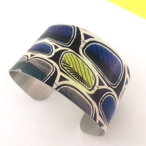 Aluminium Printed 'African Fabric' Bangle