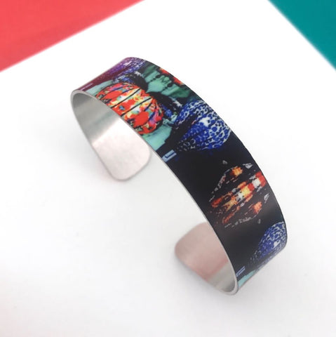 Aluminium Printed 'Hoi An Lanterns'  Bangle