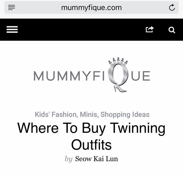 [MEDIA] Where to buy twinning outfits in Singapore by Mummyfique
