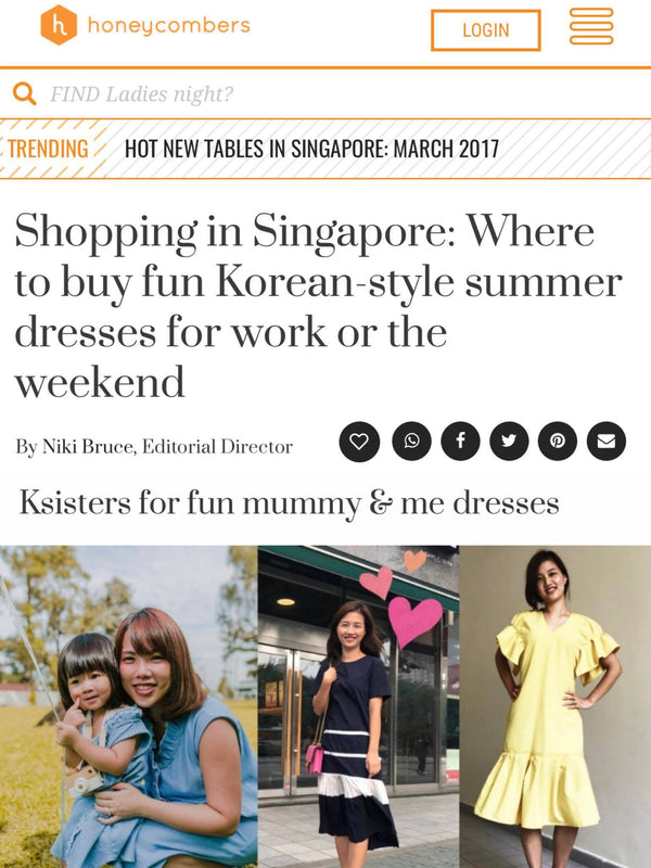 [MEDIA] Where to buy fun Korean Style Summer dresses for work or the weekend by Honeycombers