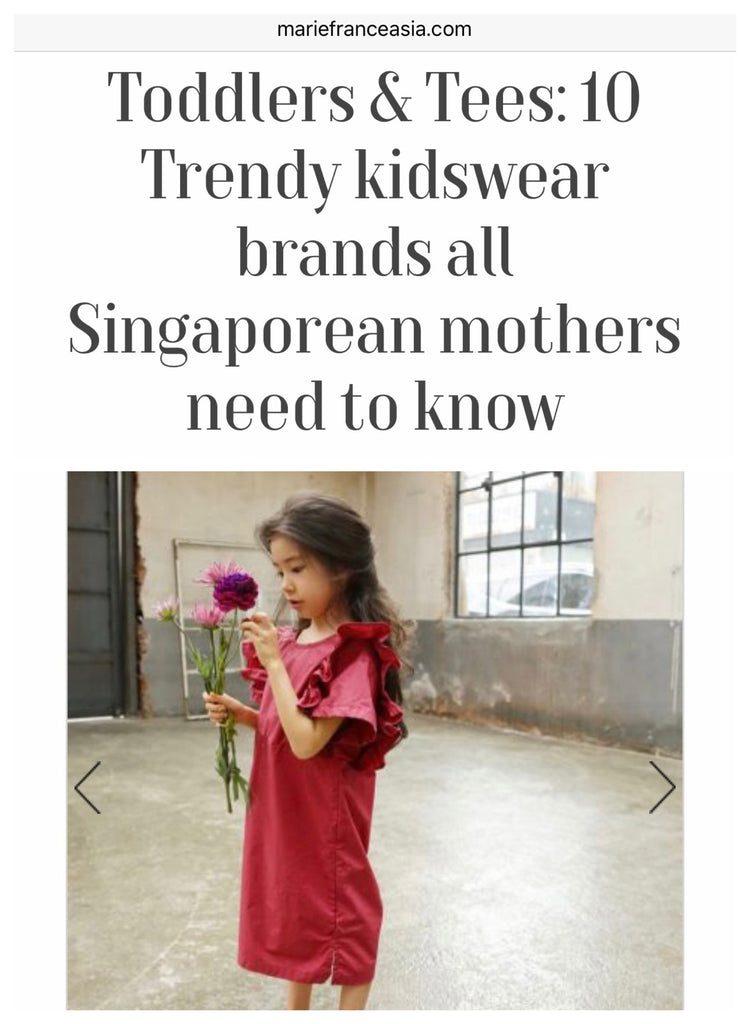 [MEDIA] 10 Trendy kidswear brands all Singaporean mothers need to know by Marie France Asia