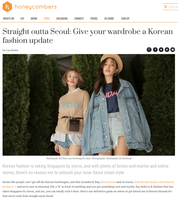 [MEDIA] Straight outta Seoul: Give your wardrobe a Korean fashion update by Honey Comber
