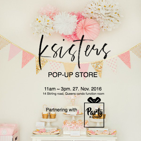 KSISTERS POP-UP STORE on Nov.27 at 11AM-3PM