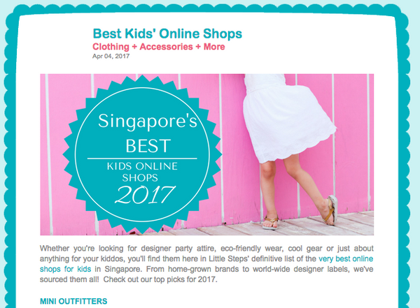 [MEDIA] SG Best online shopping for kids by Little Steps Asia