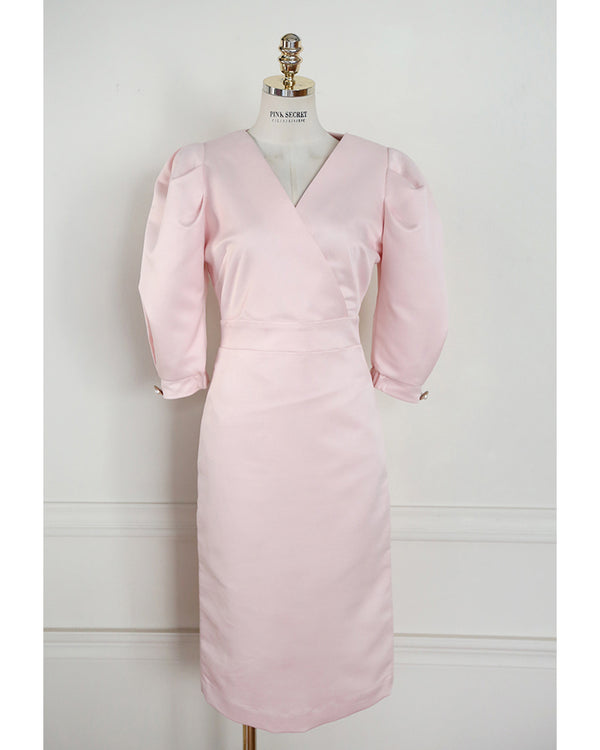 Pink Secret Proposal Dress (Pink/Beige)