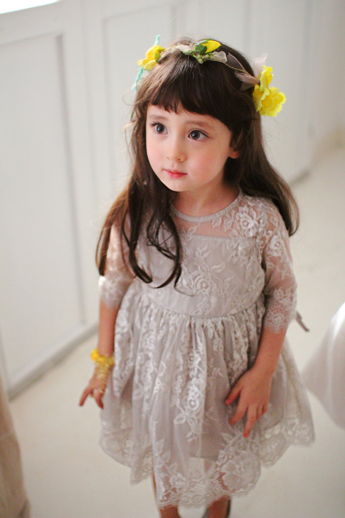 RoseMary Dress Grey Girl
