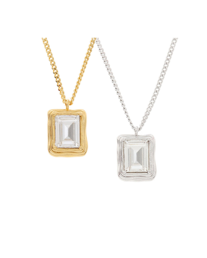 MZUU 1930 Frame Crystal Necklace (Gold/Silver)