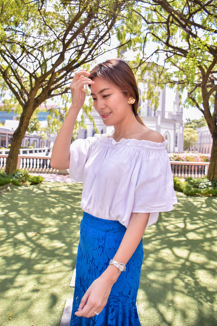 [2nd Restock] Off-shoulder Top White