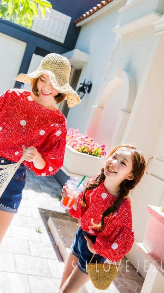 Puff Sleeve Top Red
