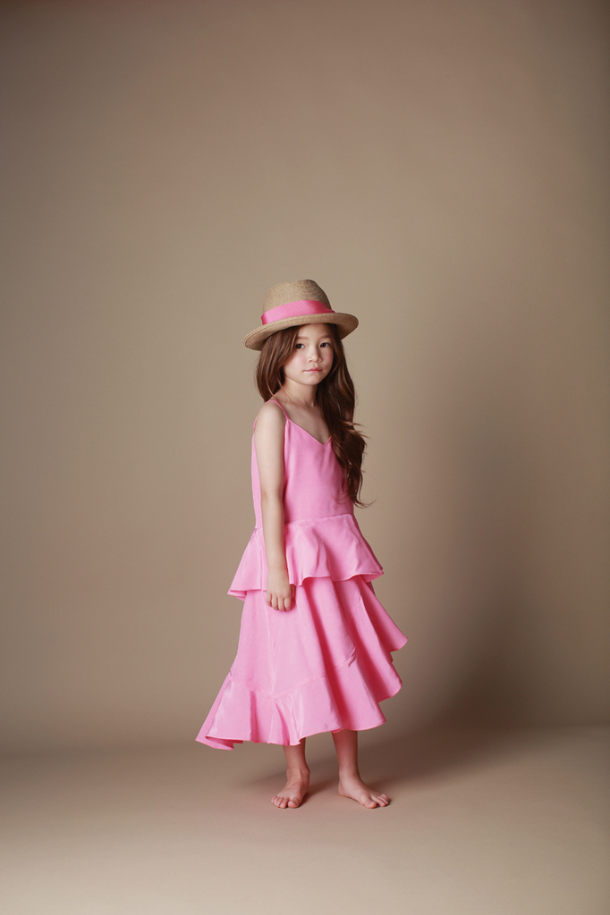 2 Layered Dress Pink Girl