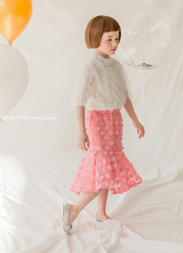 [PREORDER] 3D Petal Flower Skirt Pink (Woman/ Girl)