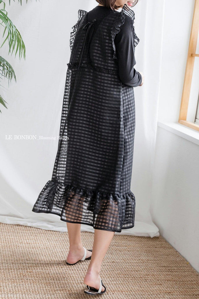 Ruffles Organza Dress Black (Woman/ Girl)