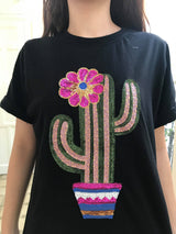 Cactus T-Shirt Black (Woman/ Girl)