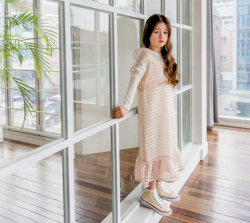 Cotton Knit Tee Dress Cream (Woman/ Girl)