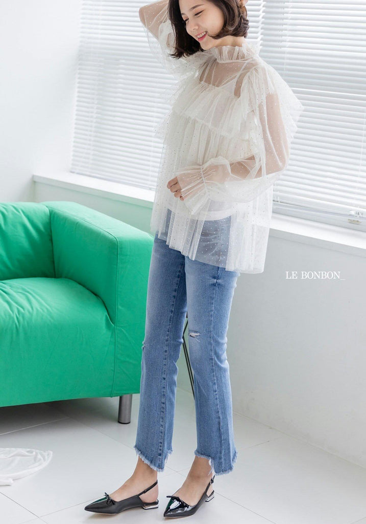 [PREORDER] Honey Star Blouse White (Woman/ Girl)