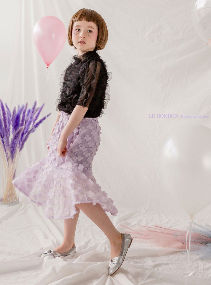 3D Petal Flower Skirt Lilac (Woman/ Girl)
