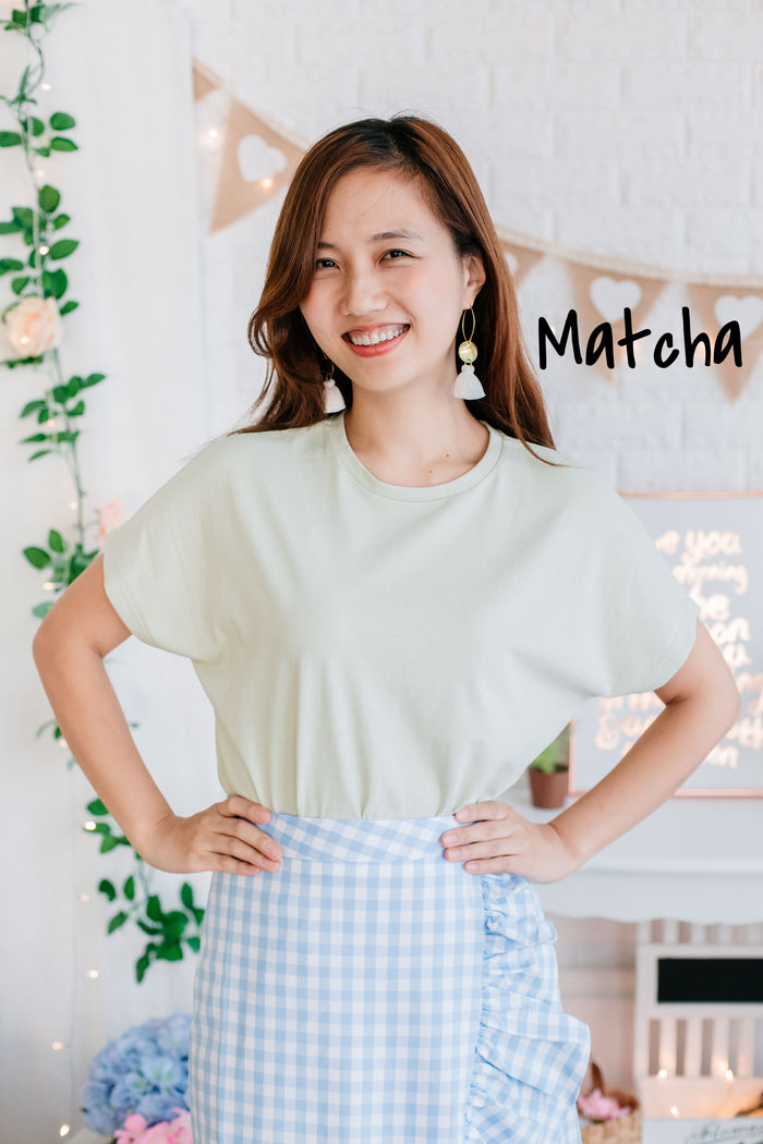 Batwing T-shirt (Wheat/ Matcha/ White)