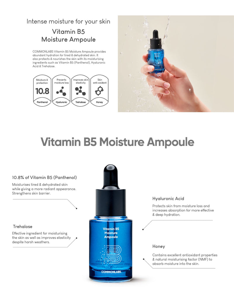 COMMONLABS Vitamin B5 Moisture Ampoule