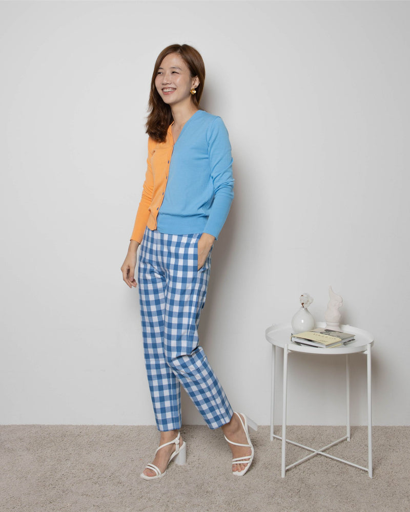 Blue Gingham Pants