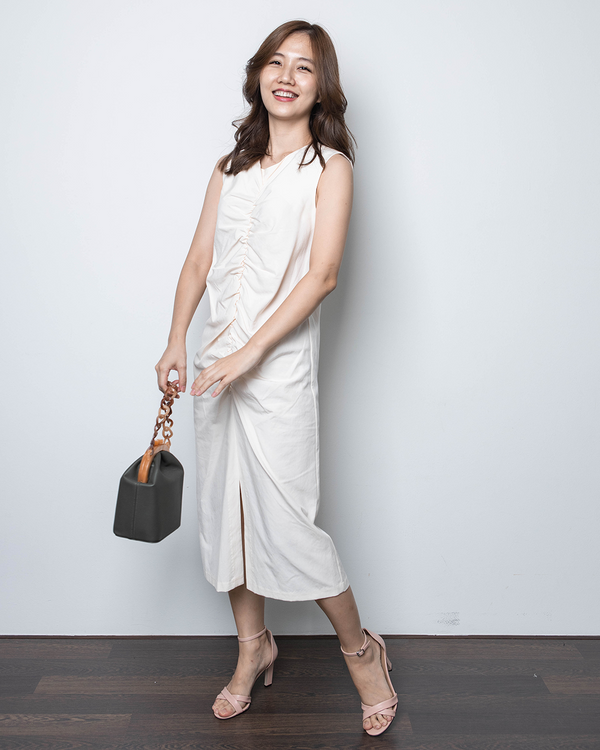 Sleeveless Gathered Dress (3 Colours)