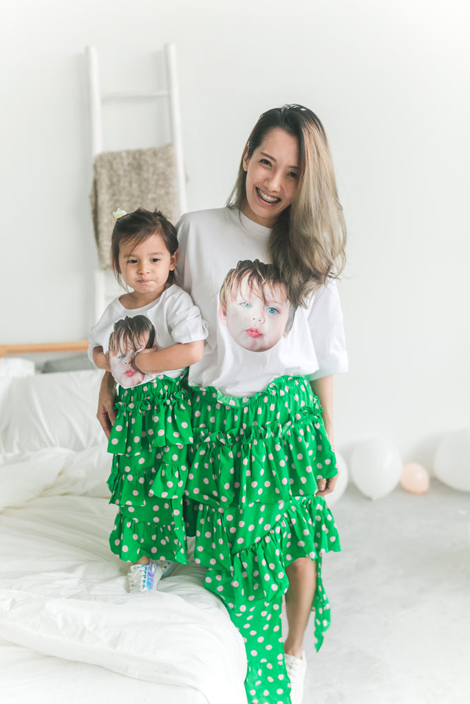 Baby Face T-shirt White (Mum/ Girl)