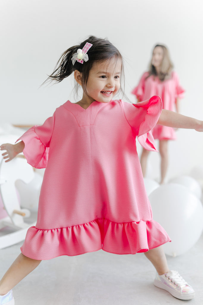 [4th Restock] Tunic Top Hot Pink (Mum/ Girl)