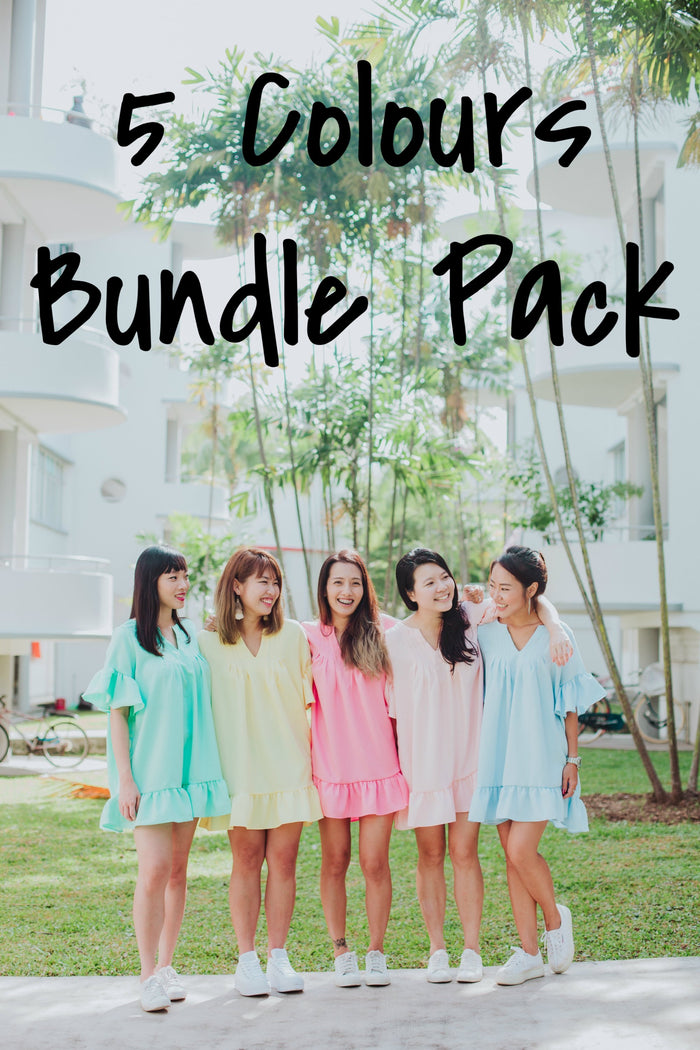 [PREORDER] Tunic Top Paddle Pop 5 colours Bundle Pack