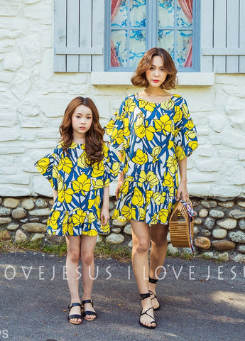[2nd Restock] Linen Floral Dress Yellow