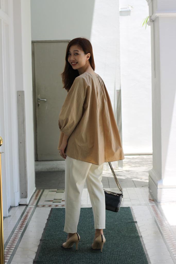 Peg Pants (Cream/ Camel/ Black)