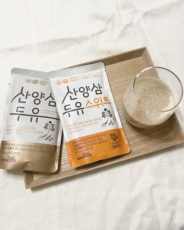 [PROMO] Korean Wild Simulated Ginseng Soymilk Original / Sweet (15 Packs/1 Box)