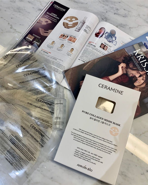 [PROMO] Ceramine Pure Collagen Mesh Mask / Everlasting Tone Up Mist