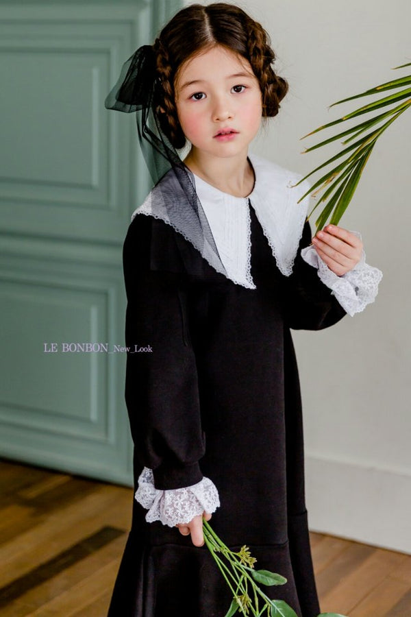 Harry Lace Collar Dress Black [Woman/ Girl]