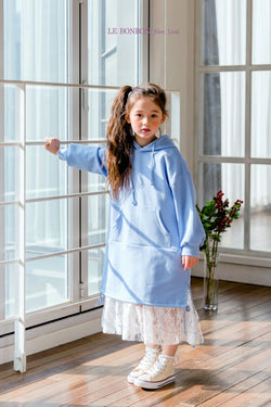 Poby Lace Hood Dress Serenity Blue [Woman/ Girl]