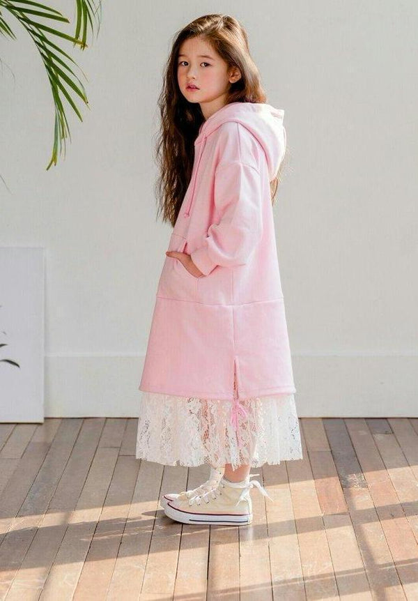 Poby Lace Hood Dress Pink [Woman/ Girl]