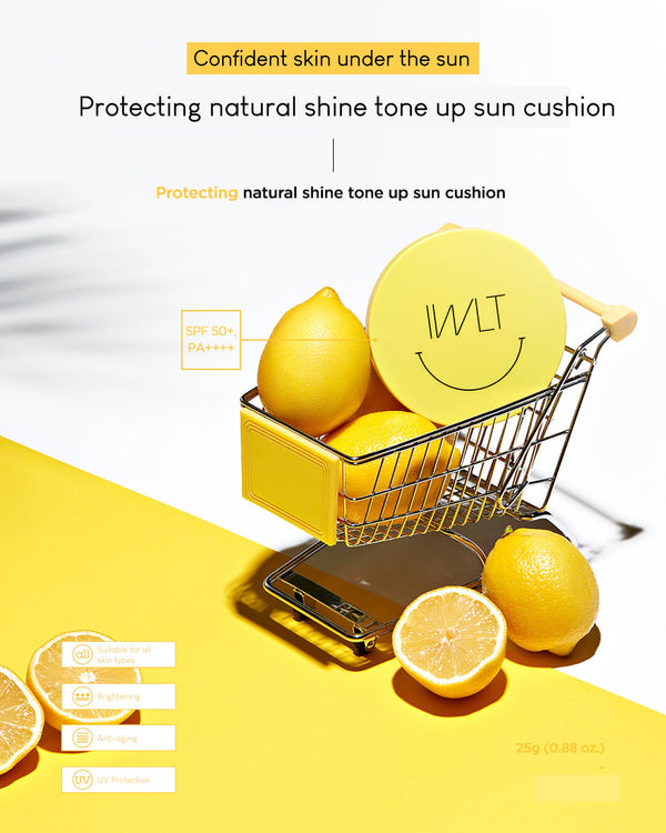 [PREORDER] IWLT Protecting Natural Shine Tone Up Sun Cushion (SPF50+ / PA++++)