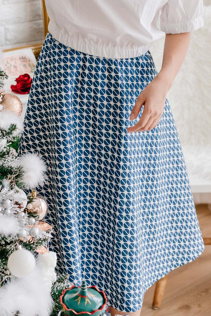 Mary Poppins Skirt Blue