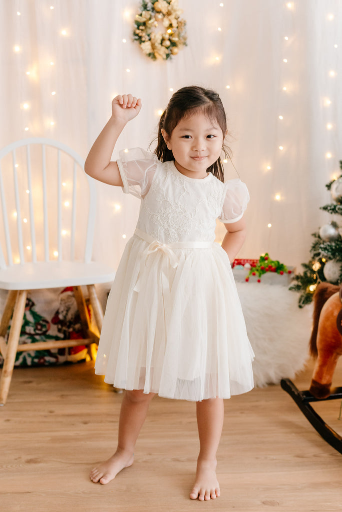Cotton Candy Dress Ivory