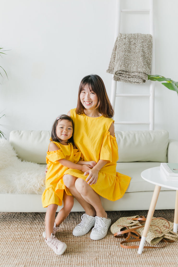 Cold-Shoulder Linen Dress (Girl)
